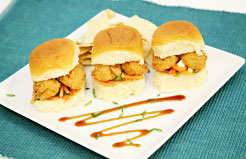 Crispy BBQ Chicken Tender Sandwiches