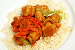 General Tso Chicken and Vegetable Rice Bowl