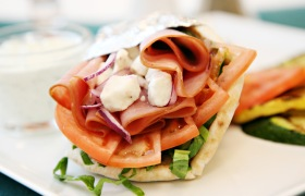 Greek Turkey Ham Pita