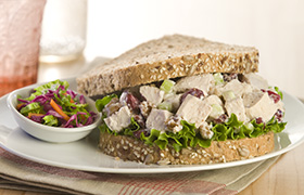 Chicken Salad with Dried Cranberries and Walnuts