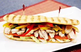 Philly Chicken Panini Sandwich