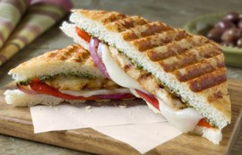 Grilled Vegetables and Pesto Chicken Panini
