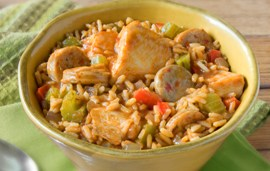Quick Chicken and Sausage Jambalaya
