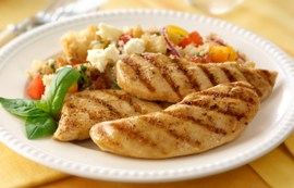 Summer Tuscan Salad with Chicken Tenders