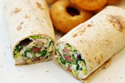Southwestern Chopped Chicken Salad Roll-up
