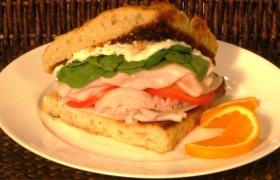 Tuscan Turkey on Focaccia Bread