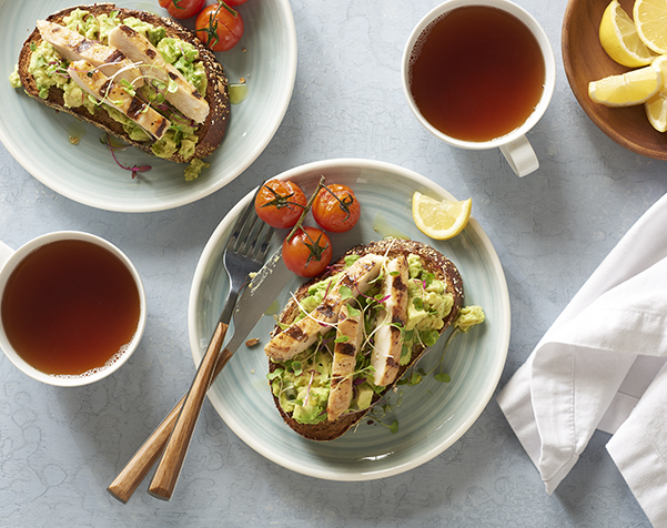 Avocado Toast with Organic Chicken