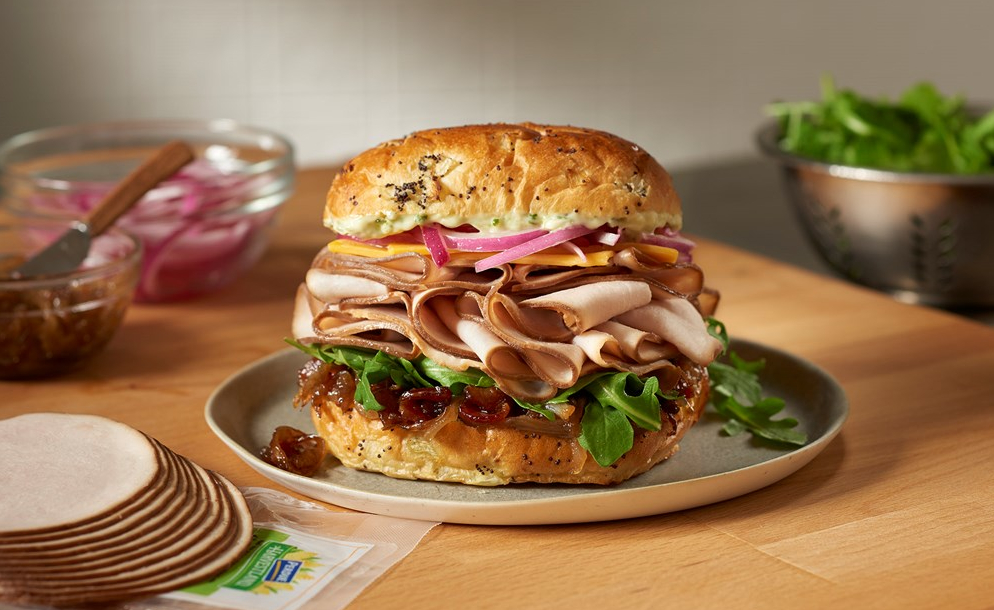 Easy Sliced Turkey Sandwich with Onion Jam