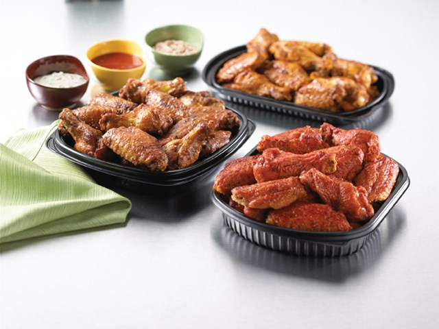 PERDUE® Fully Cooked, Buffalo Style Spicy Glazed Chicken Wing Portions, 1st and 2nd Sections, Medium,…<br/>(08201)