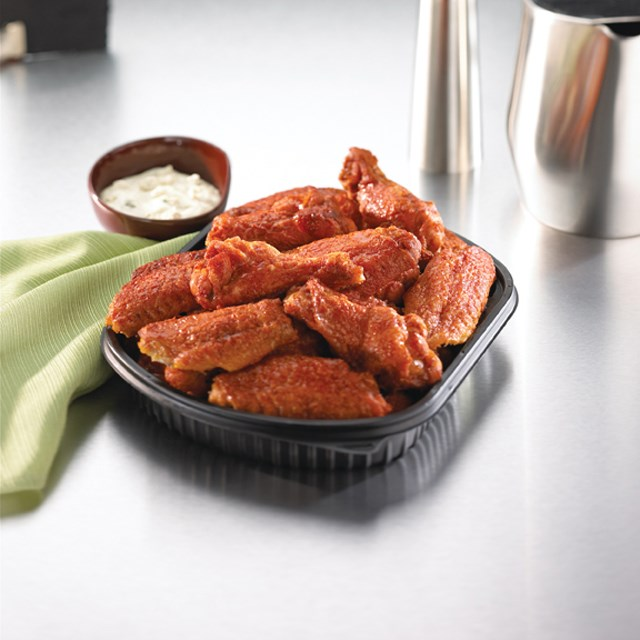 PERDUE® Fully Cooked, Original Buffalo Style Chicken Wings, 1st and 2nd Sections, Jumbo, Fry-able,…<br/>(09042)