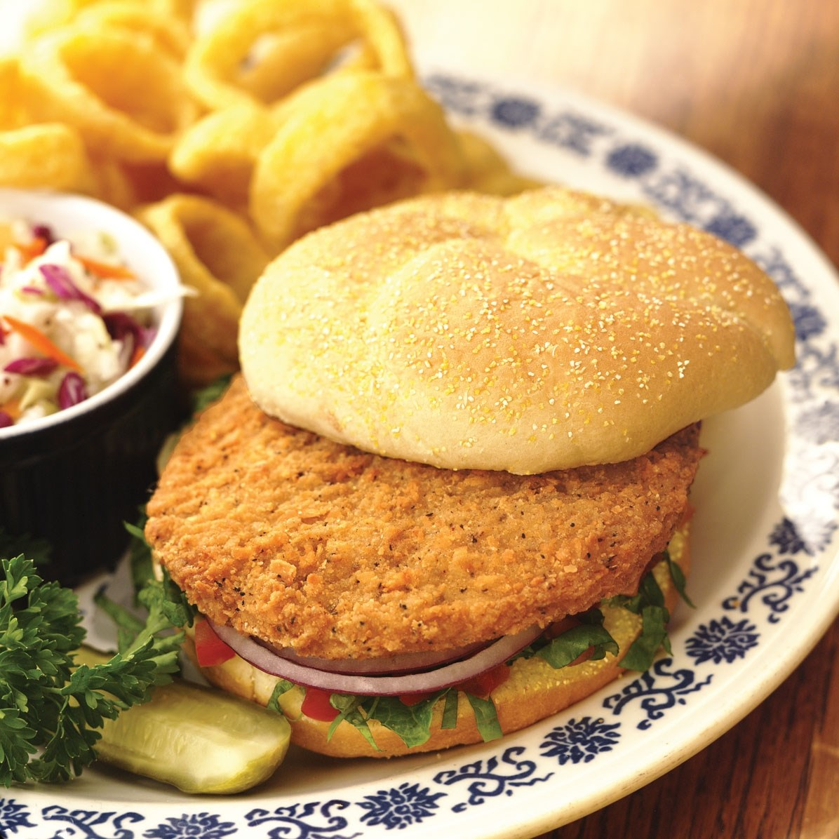 KINGS DELIGHT® NO ANTIBIOTICS EVER, Fully Cooked, Spicy, Whole Grain Chicken Breast Patties Fritter, CN…<br/>(66222)